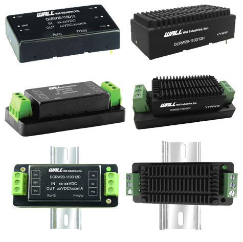 Isolated and Regulated 20 Watt DC/DC Converters: DCRW20